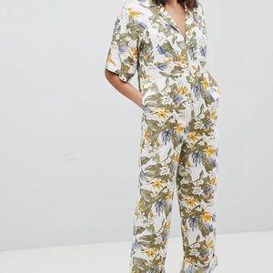 NWOT ASOS floral boiler suit
